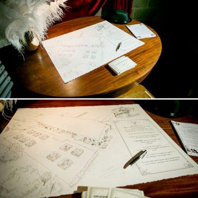 Illustration architecturale et typographie