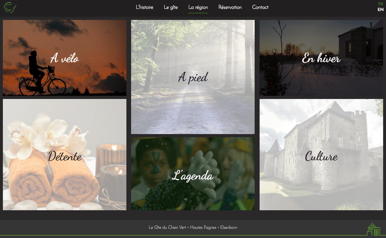 Les Gites du Chien Vert - site web