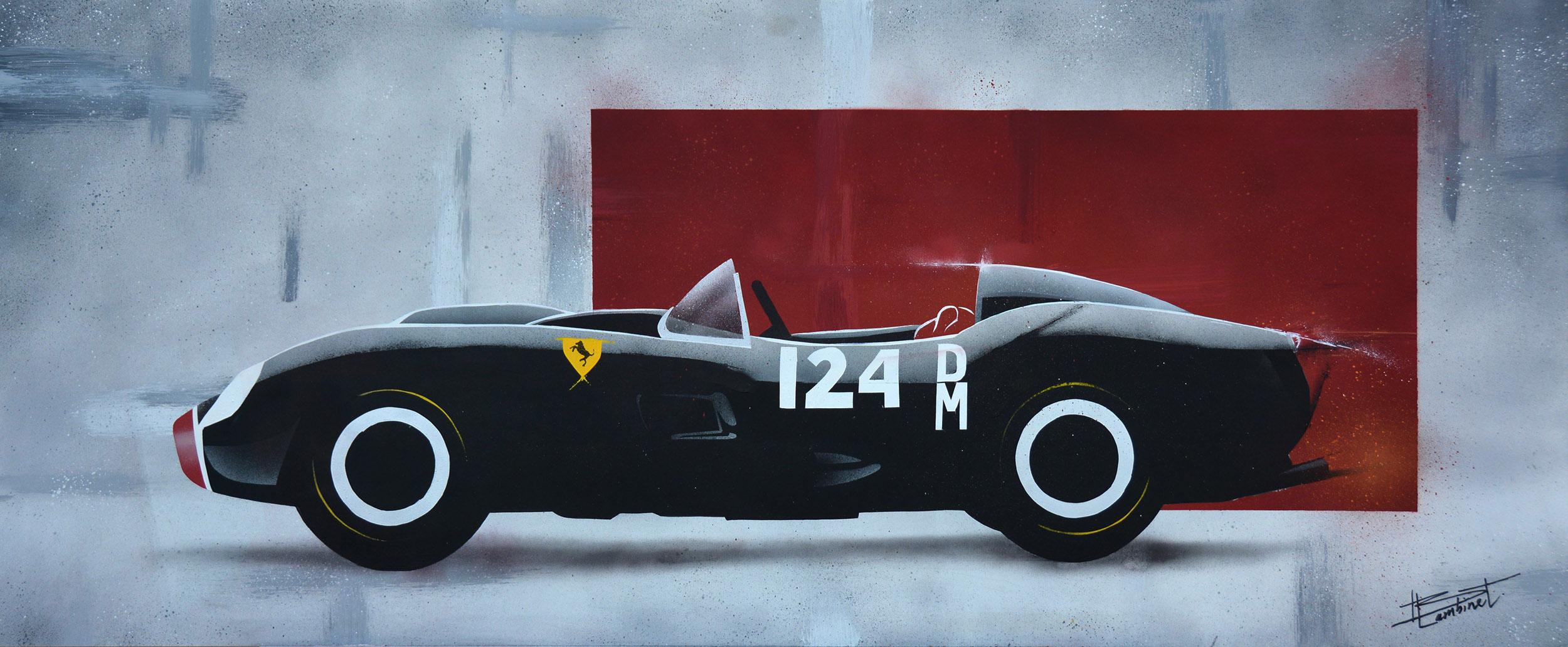 Peinture Ferrari 250 Testa Rossa - complète