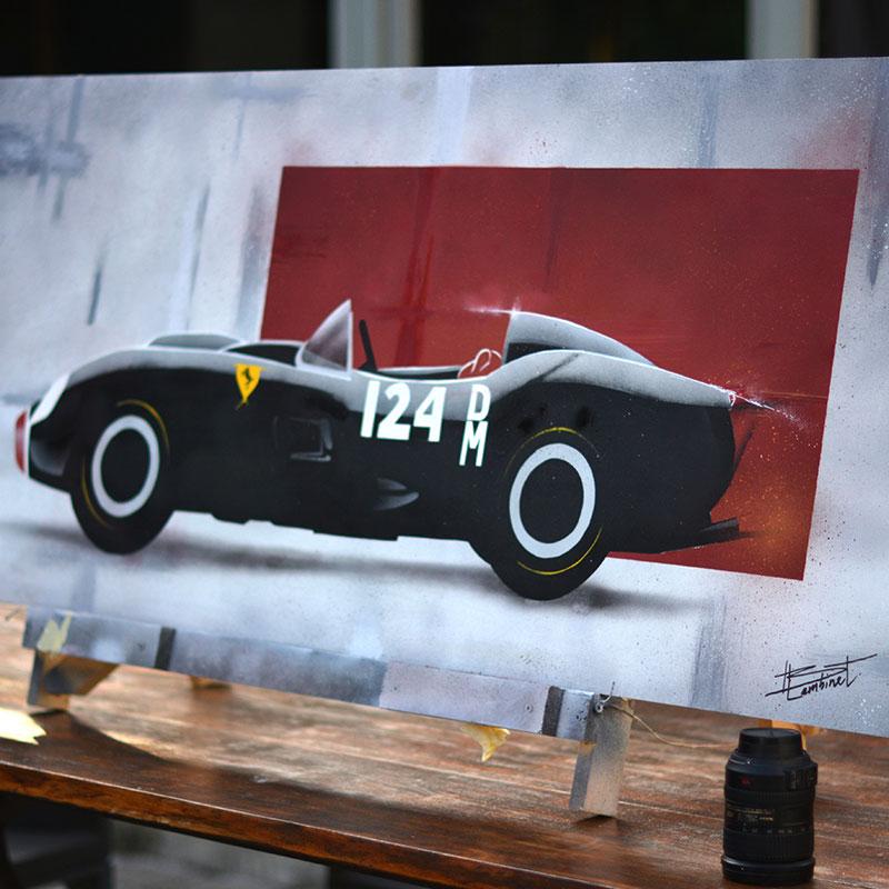 Peinture Ferrari 250 Testa Rossa - apercu