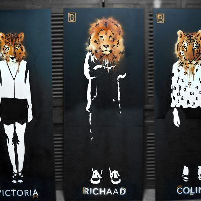 Peintures big cats trio - apercu
