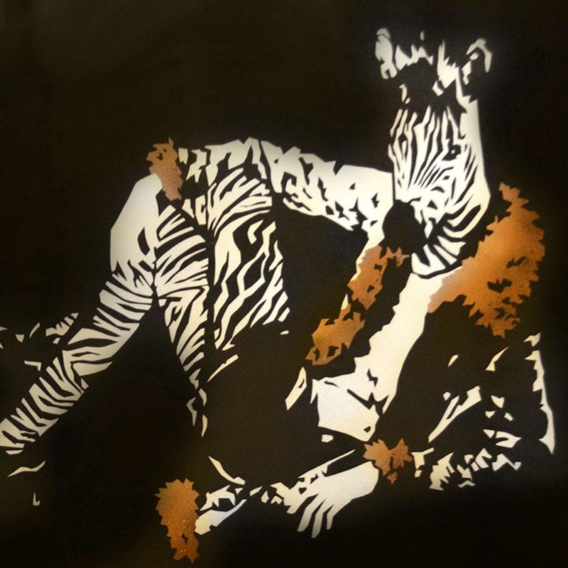 Peinture Fashion Zebra - apercu