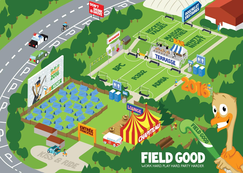 Field Good Hockey Tournament - plan du tournoi