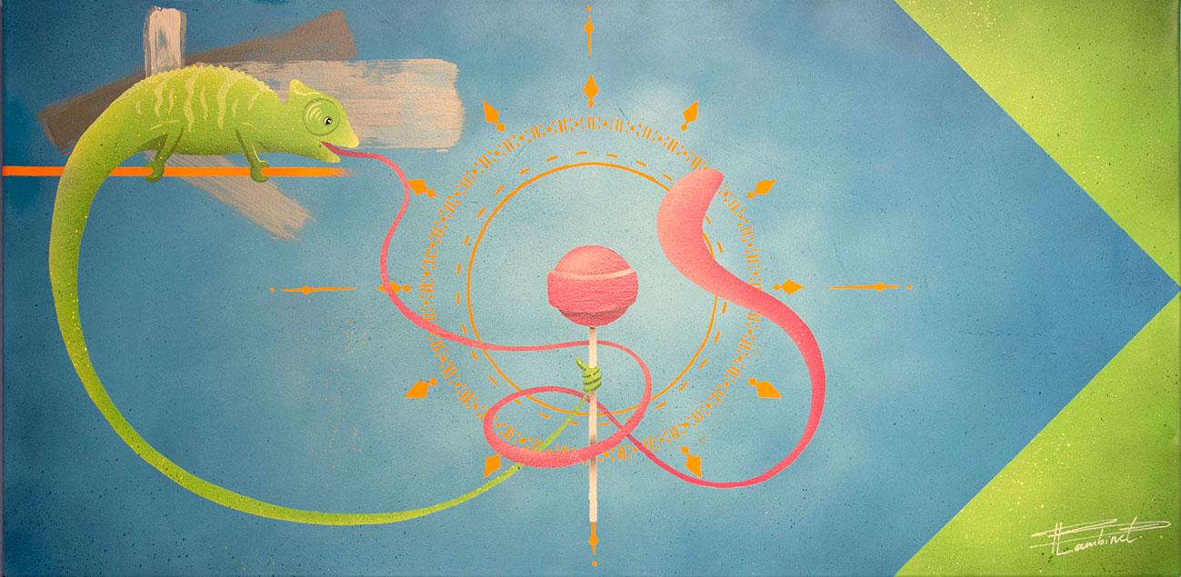 Peinture Jungry Chameleon - complète