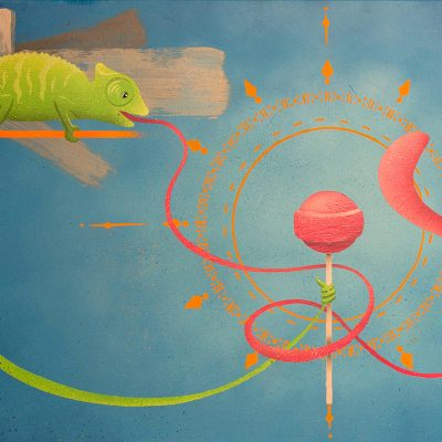 Peinture Jungry Chameleon - apercu