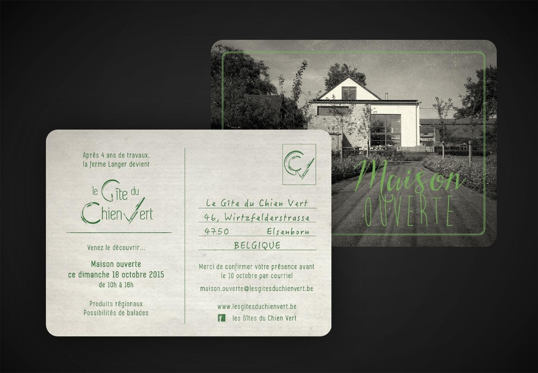 Les Gites du Chien Vert - Carton d'invitation
