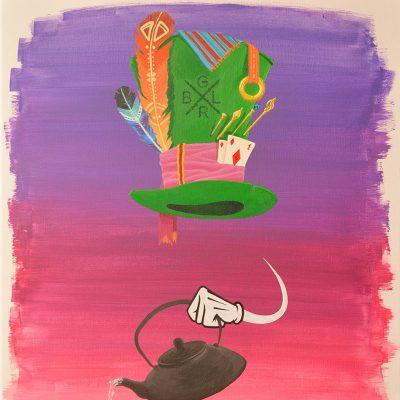 Peinture Mad Hatter's Hat - apercu