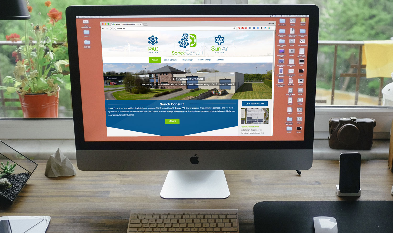 Site web de Sonck Consult