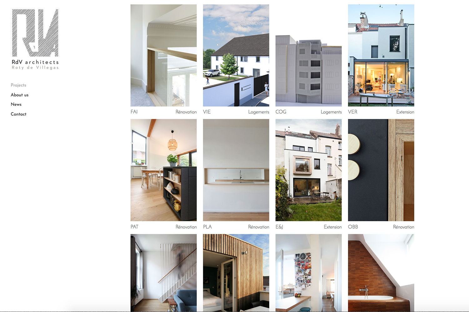 Site web RdV Architects