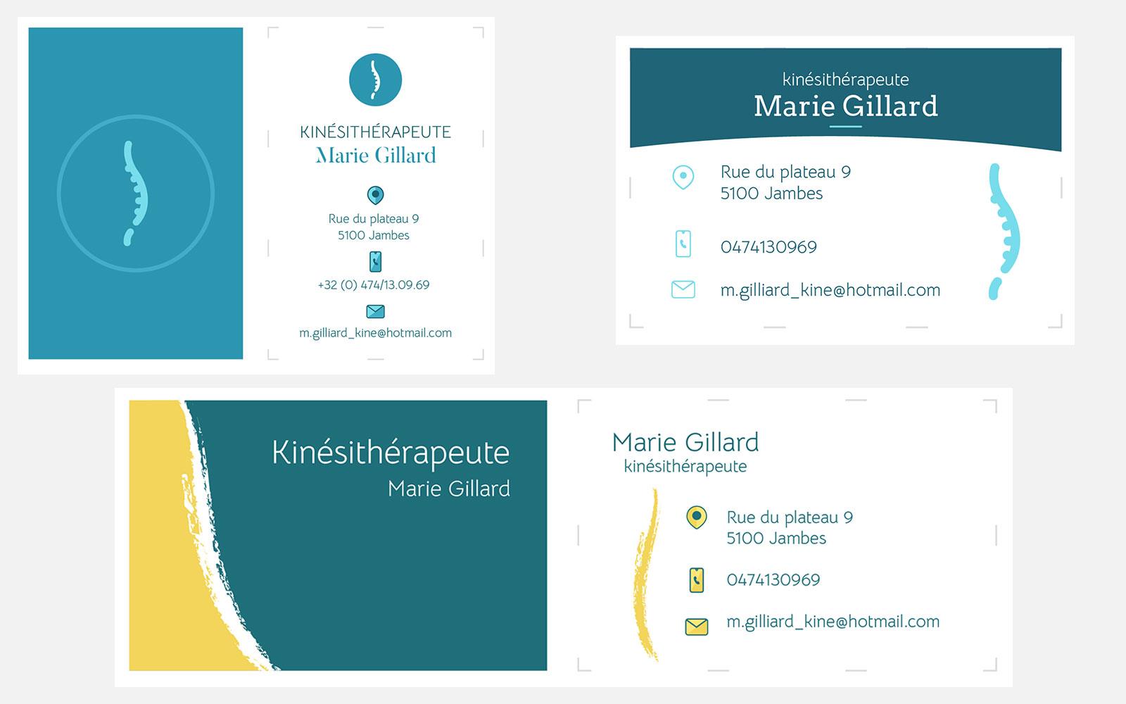 BL-Graphics - Kiné - carte de visite