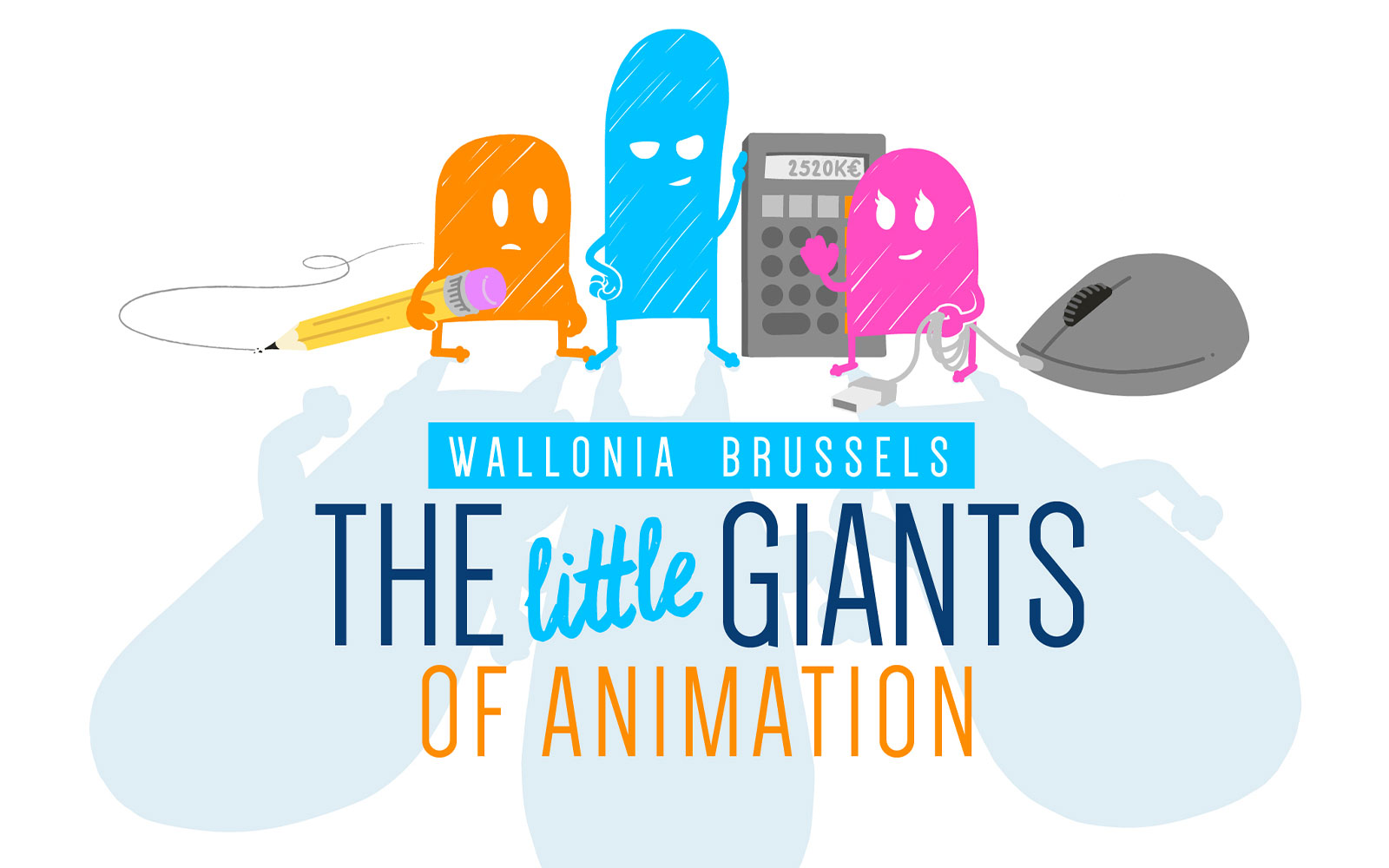 BL-Graphics - The little Giants - Fédération Wallonie Bruxelles - variante logo