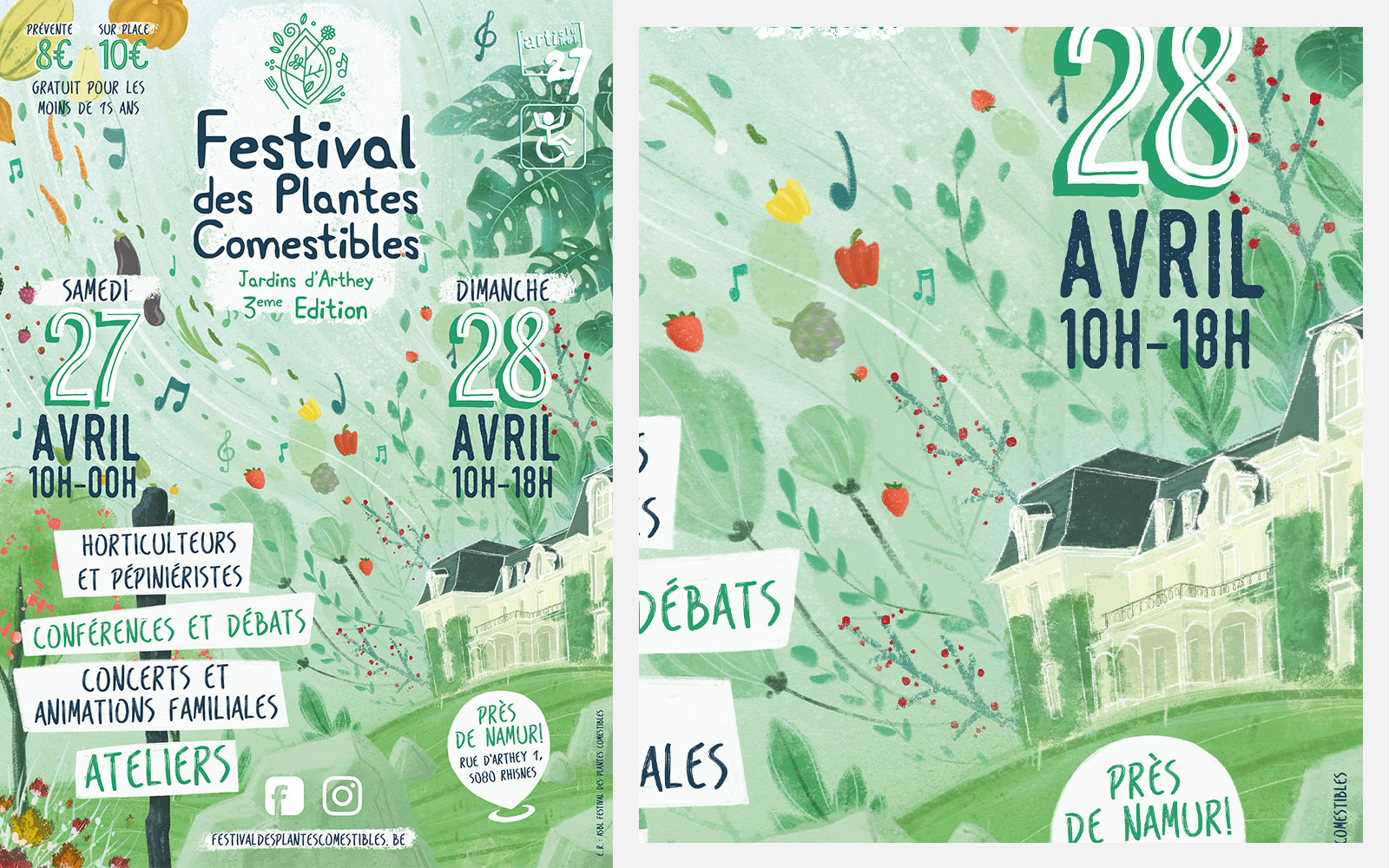 BL-Graphics - Festival des Plantes Comestibles - affiche 2019