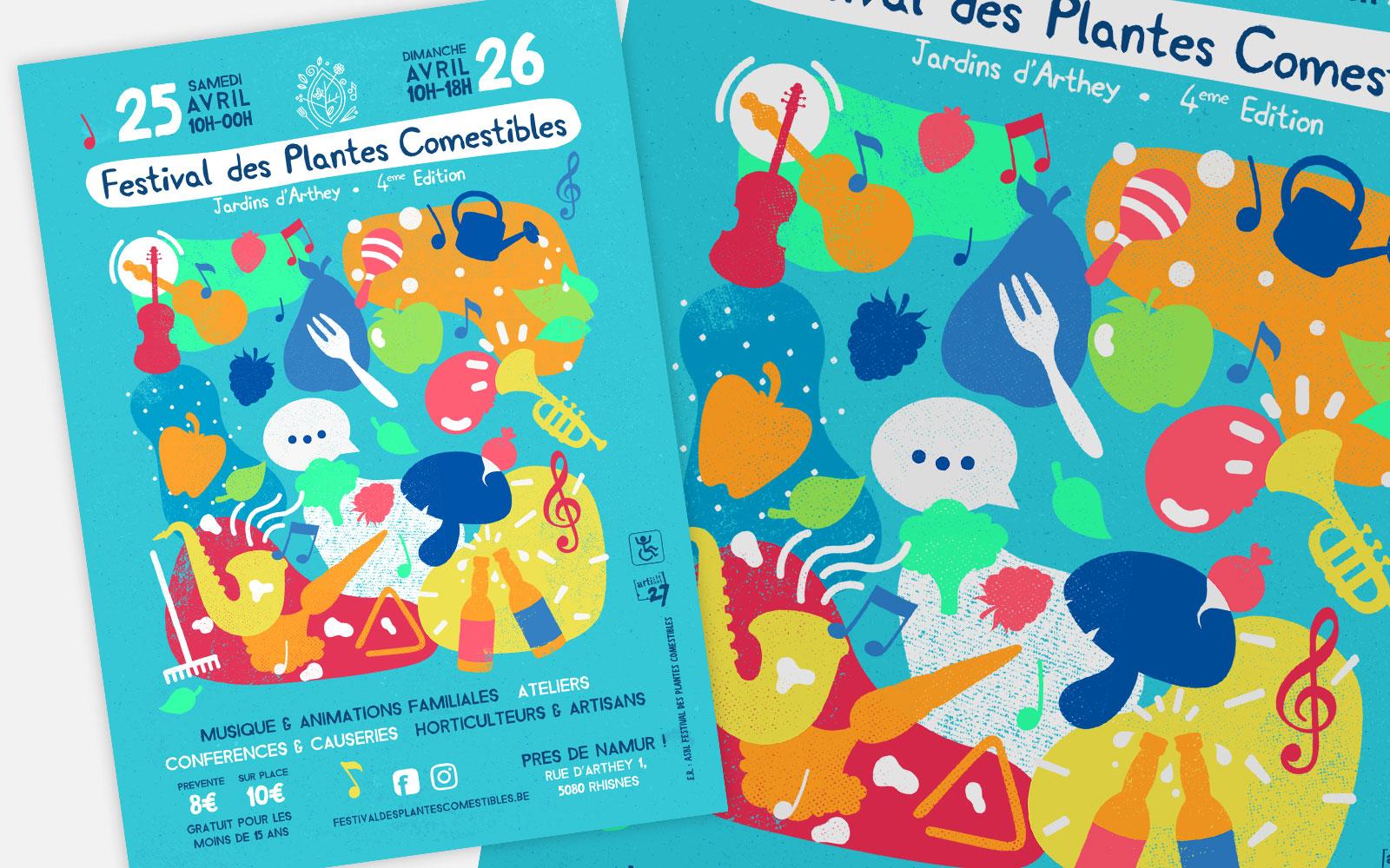 BL-Graphics - Festival des Plantes Comestibles - affiches