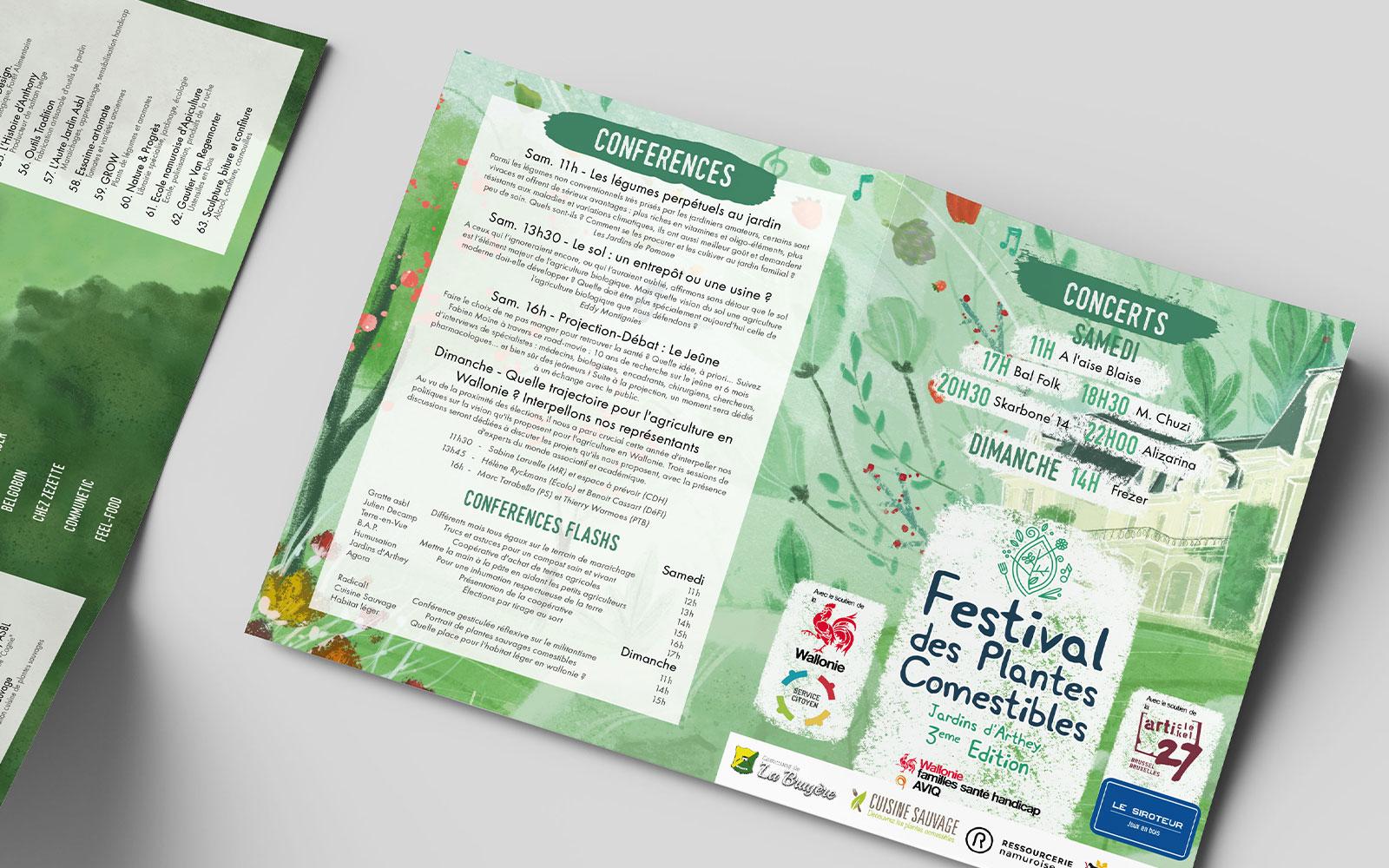 BL-Graphics - Festival des Plantes Comestibles - dépliant 2019