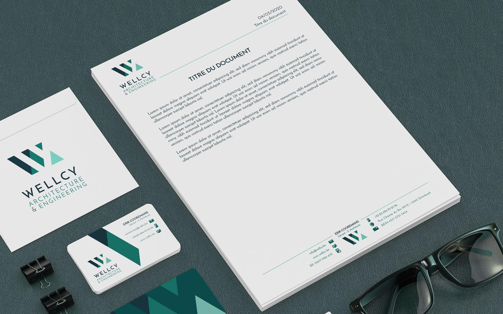BL-Graphics - Wellcy - en-tête et pied de page de document